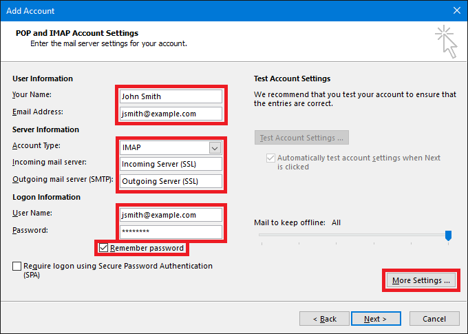 Setup Your LinkSky Hosting Email Account in Microsoft Outlook 2016